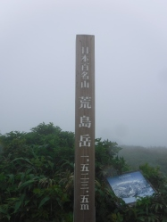 Peak of the mountain.